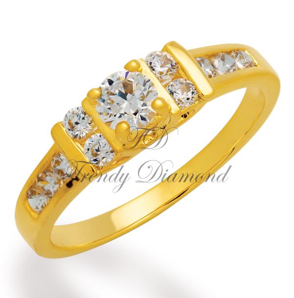 แหวนเพชร Elizabeth สีทอง