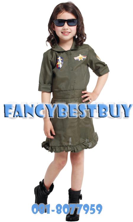 ชุดแฟนซีทหารอากาศเด็กหญิง Airforce Girl มีขนาด M, L, XL