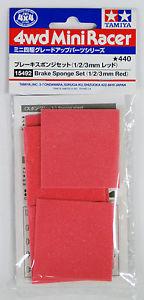 JR Brake Sponge Set - 1/2/3mm Red