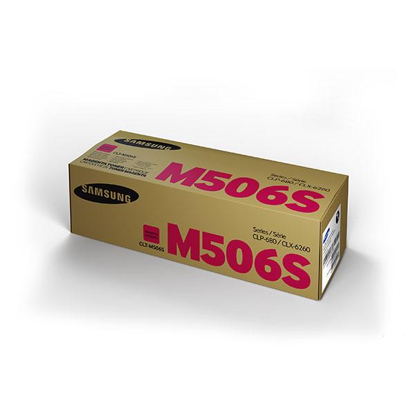 Samsung CLT-M506S ตลับหมึกโทนเนอร์ สีม่วงแดง Magenta Original Toner Cartridge (SU316A)