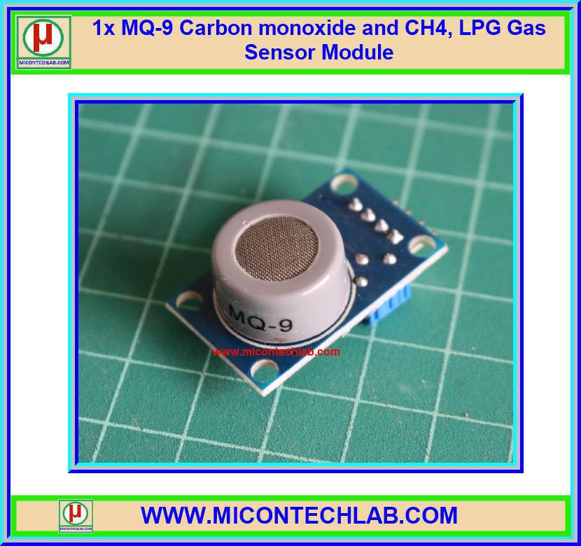 1x MQ-9 Carbon monoxide and CH4, LPG MQ9 Gas Sensor Module