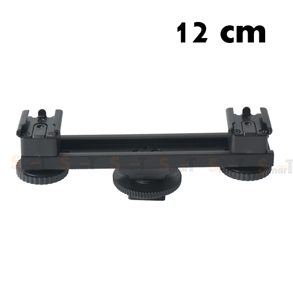 Crossbar Switch Two-Headed flash Hot Shoe Rack 12CM