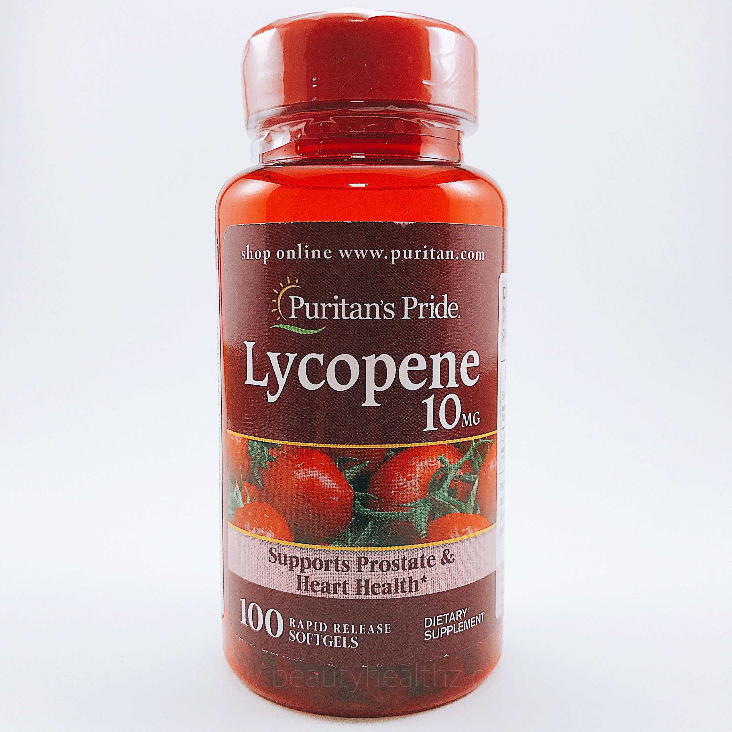 Puritan's Pride, Lycopene 10 mg / 100 Softgels