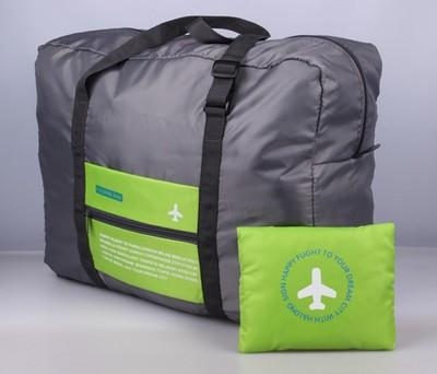 (สีเขียว) กระเป๋าเดินทางพับเก็บได้ สามารถพ่วงกับกระเป๋าเดินทางรถเข็นได้ ขนาด 45 x 20 x 34 CM ความจุ 20 ลิตร