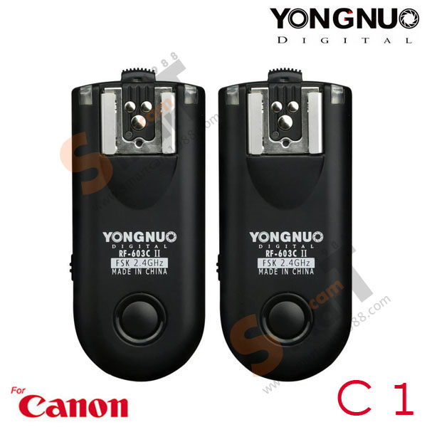 Wireless Flash Trigger Yongnuo RF-603C ii for Canon C1