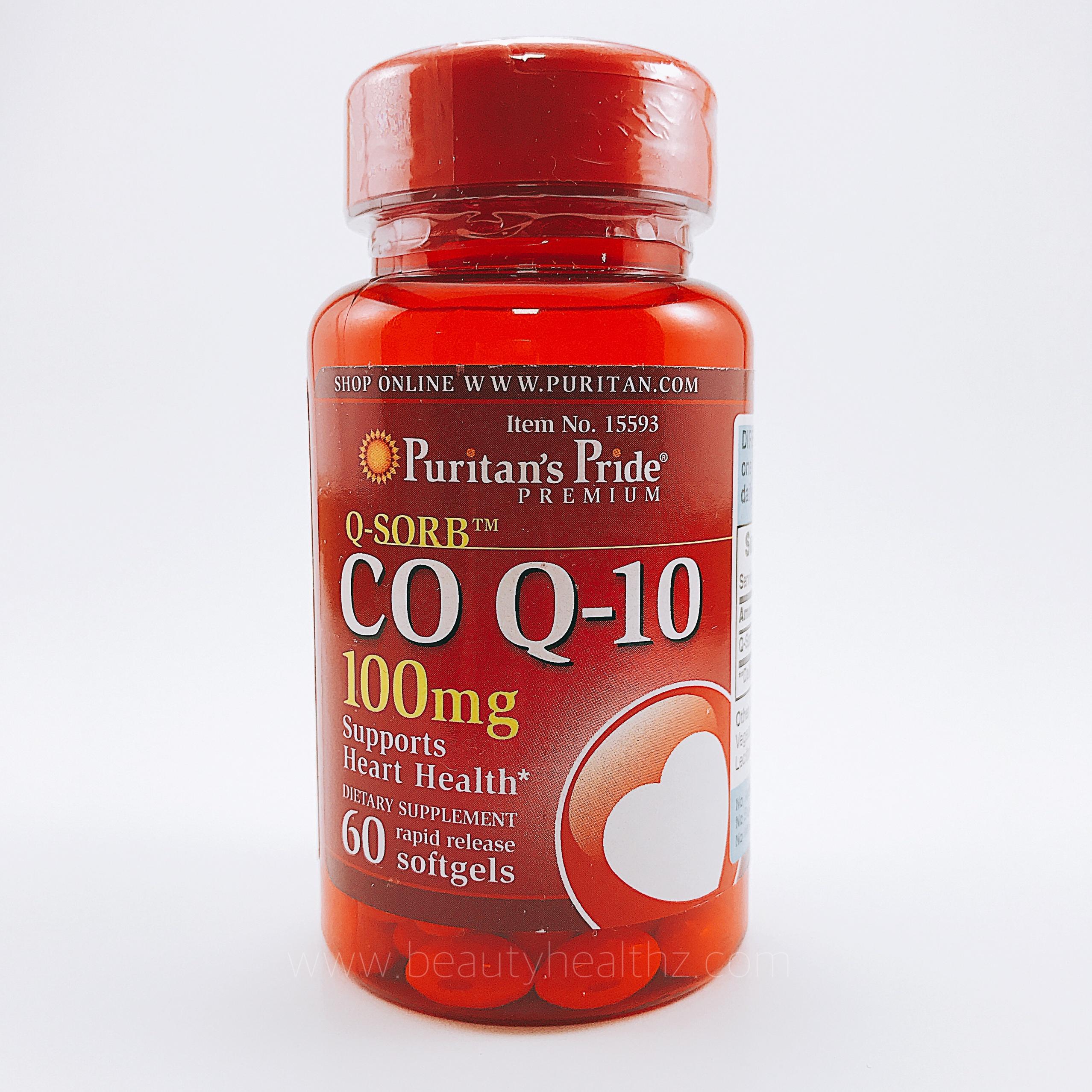 Puritan's Pride, Q-SORB™ Co Q-10 100 mg / 60 Rapid Release Softgels