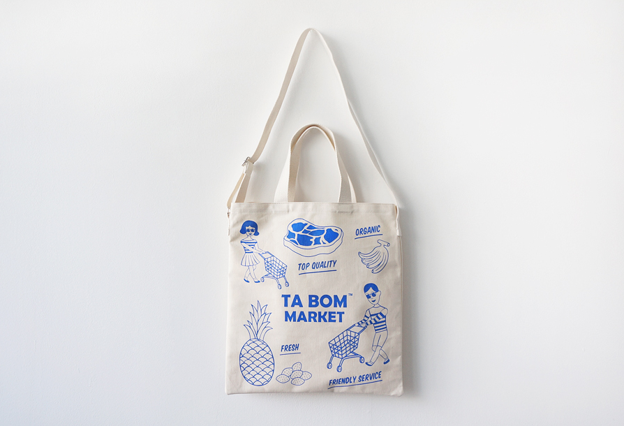 TABOM MARKET BLUE TWO-WAY BAG