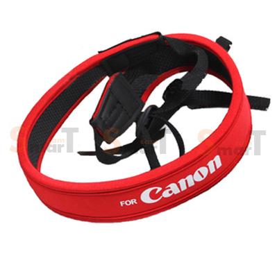 สายคล้องกล้อง Canon White on Red Neck Strap Neoprene