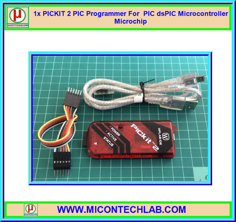 1x PICKIT 2 PIC Programmer For PIC dsPIC Microcontroller Microchip