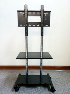 """ขาแขวนทีวีแบบขาตั้งพื้นมีล้อเลื่อน รุ่น V11 (รองรับ22""""-42"""") สูง 1.3 เมตร โทรเล้ย 0972108092"""