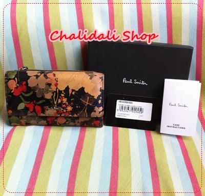 กระเป๋าสตางค์ผู้หญิง Paul Smith Cadre Floral Tri-Fold Purses