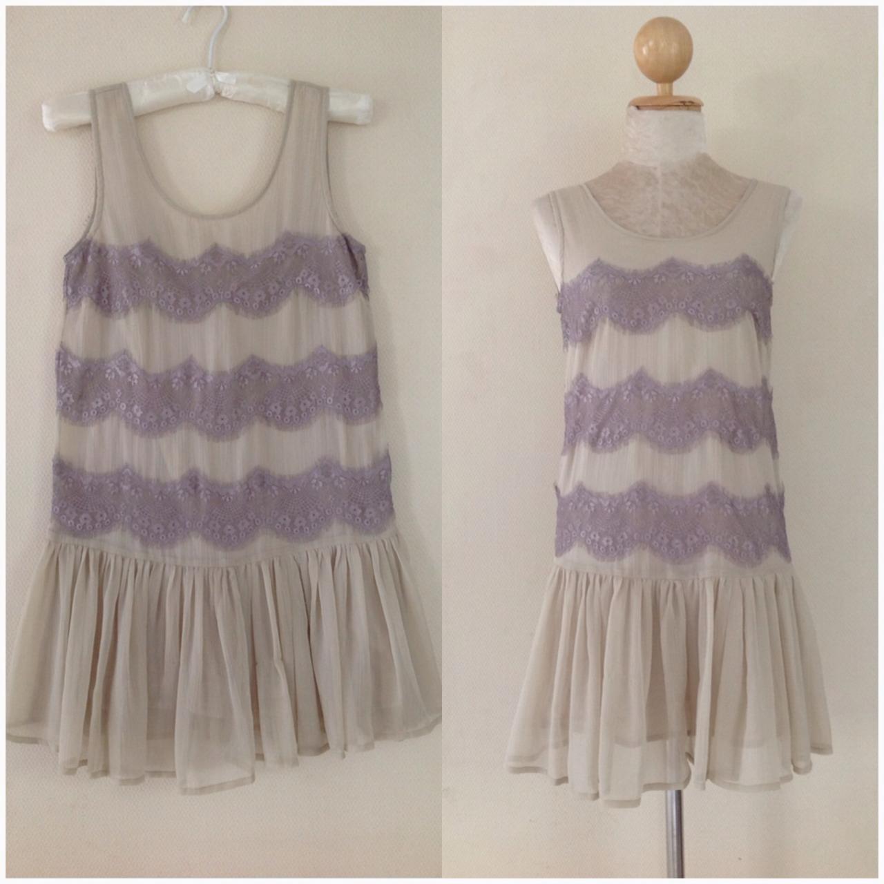 Dress ยี่ห้อ topshop รุ่น vintage style พร้อมส่ง uk 8