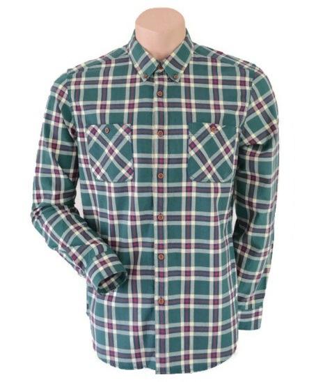 Topman Green Checked Shirt Size L