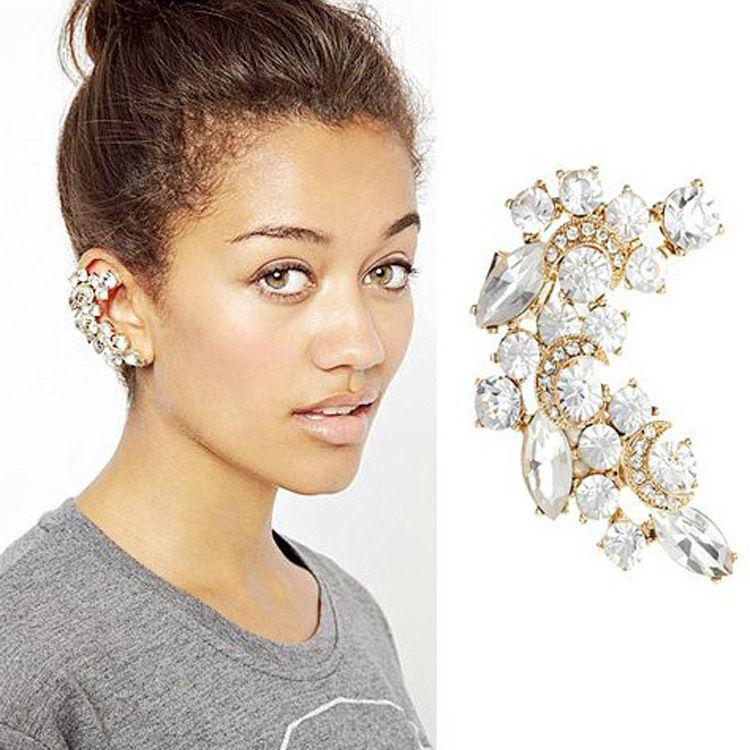 ต่างหู Meniscus Diamonds Flash Ear Cuff
